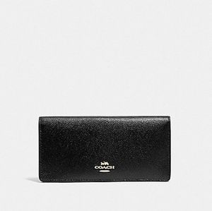 COACH Black Slim Bifold Wallet